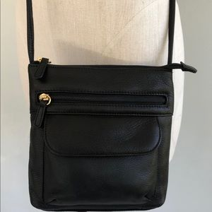 Stone Mountain Black Crossbody Bag